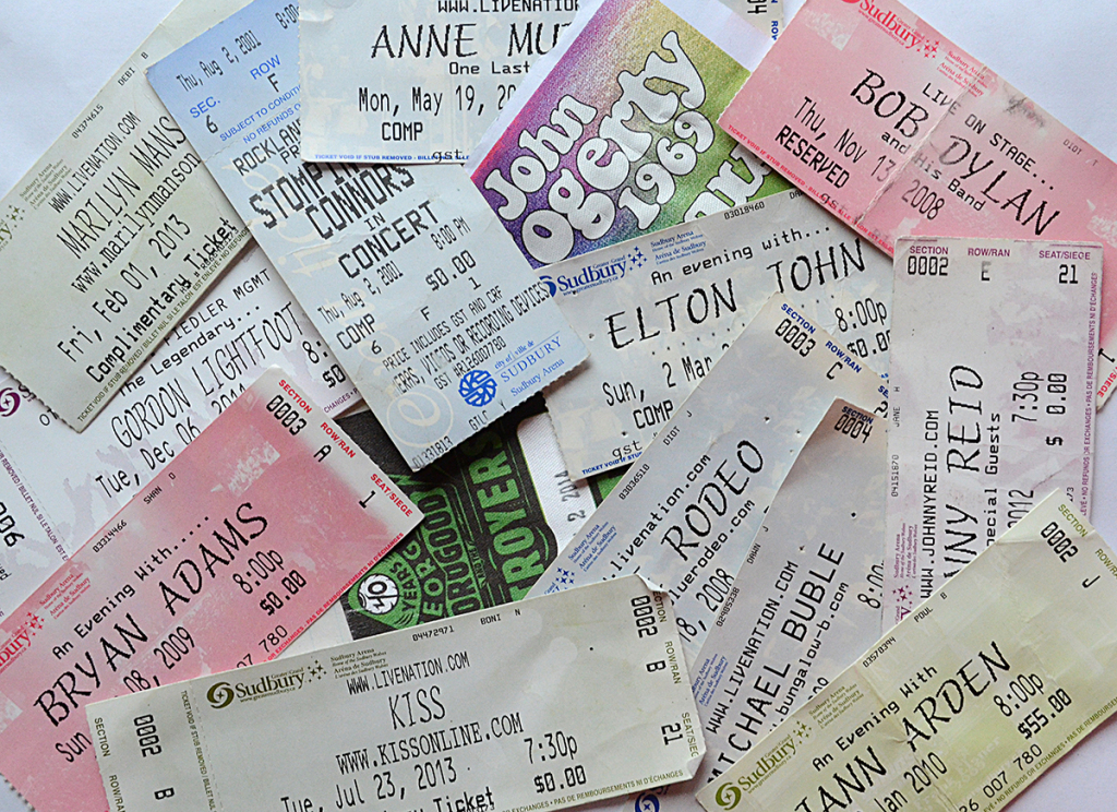 Concert Ticket Stubs